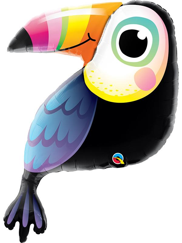 Foil Balloon Colourful Toucan