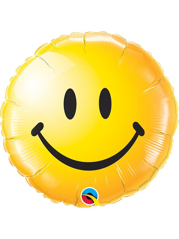 Foil Balloon Smiley Face Yellow