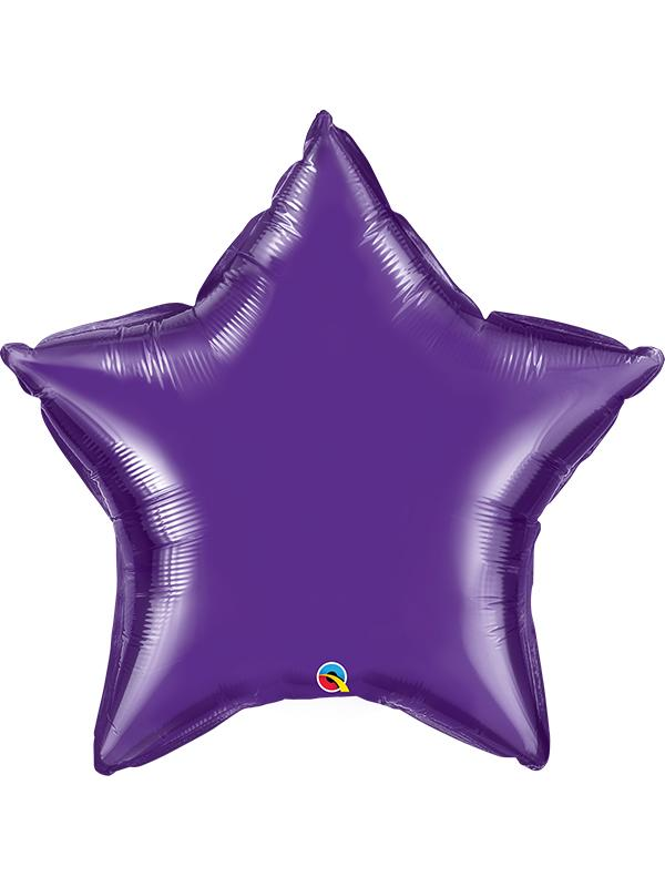 Foil Balloon Star Quartz Purple