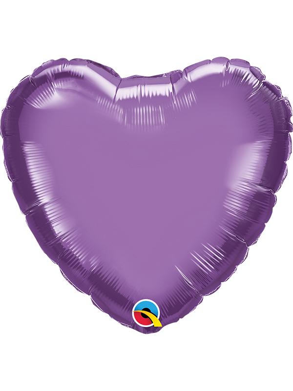 Foil Balloon Heart Chrome Purple
