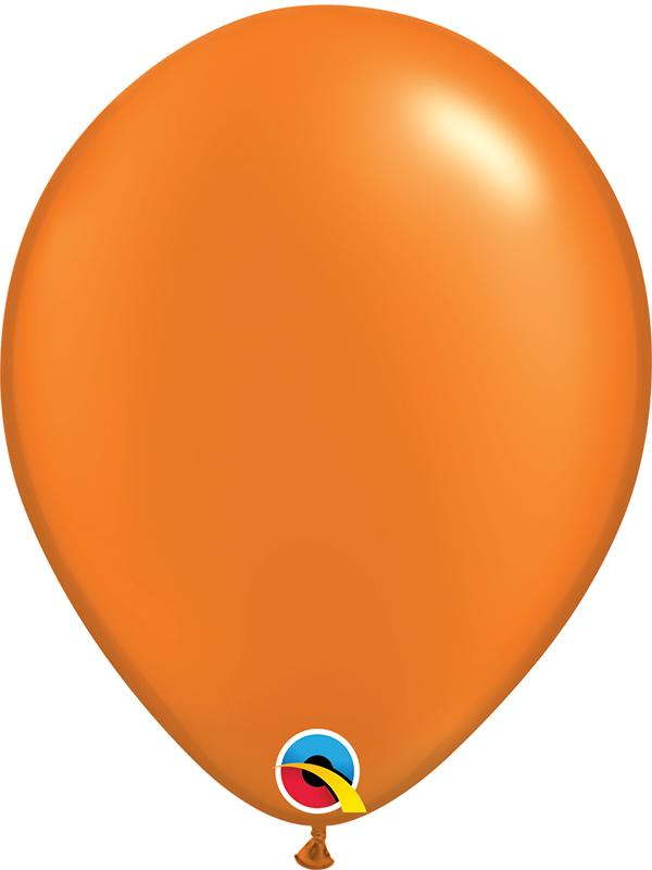Pearl Latex Balloons Mandarin Orange