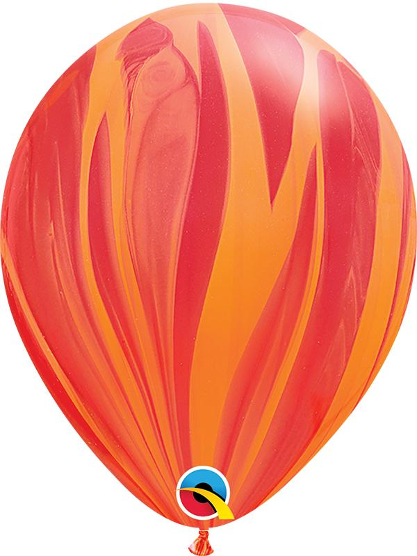 SuperAgate Latex Balloons Orange