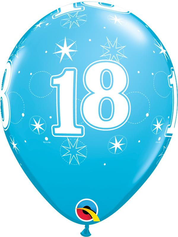 Latex Balloons Blue Age 18