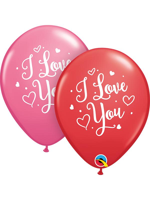Latex Balloons I Love You