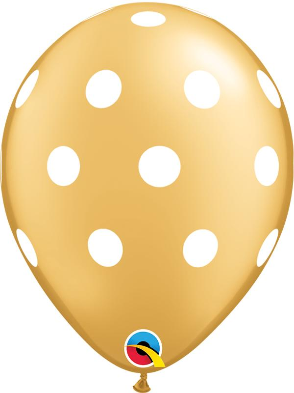 Latex Balloons Polka Dot Gold