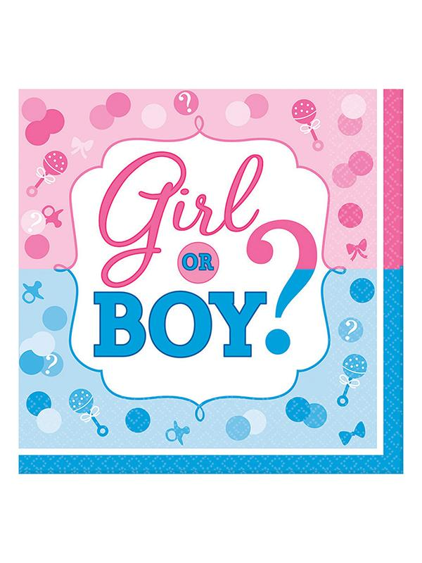 Paper Napkins Gender Reveal Boy or Girl