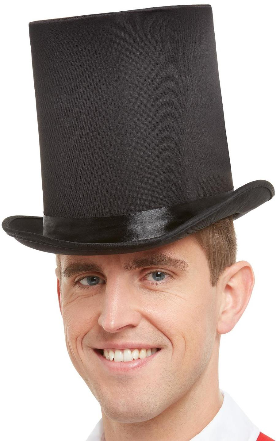 Deluxe Stovepipe Top Hat Black