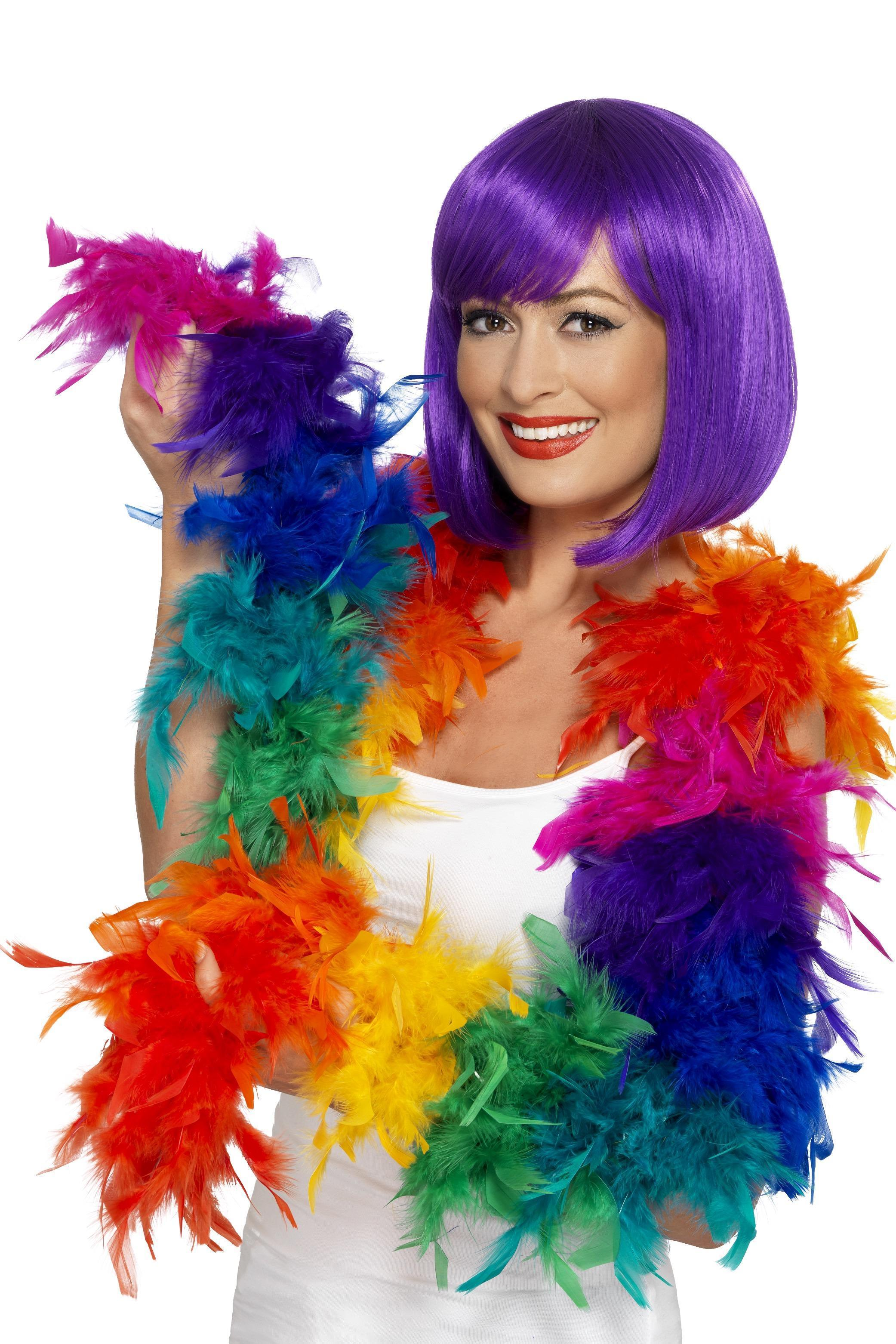 Deluxe Feather Boa Rainbow