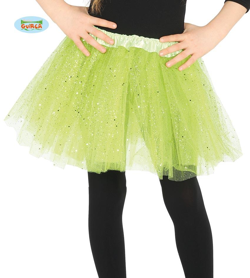 Kids Sparkle Tutu Light Green 31cm