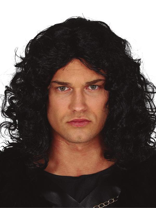 Medieval Mens Wig Black Curly