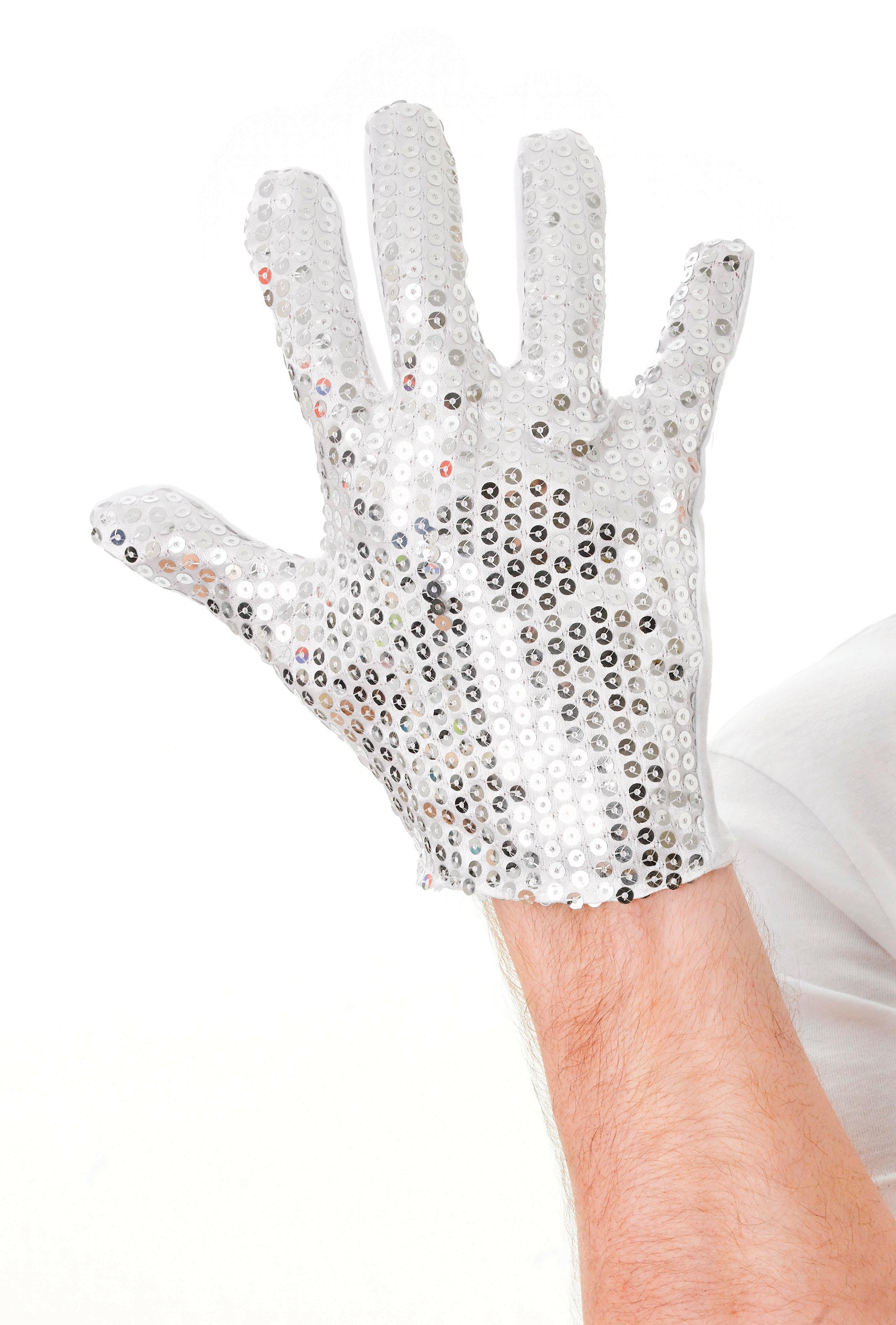 Silver Sequin Glove