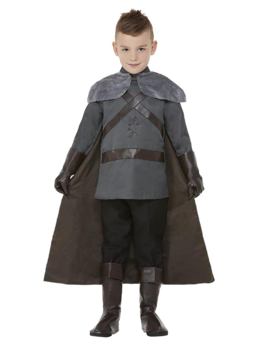 Kids Medieval Lord Costume Grey