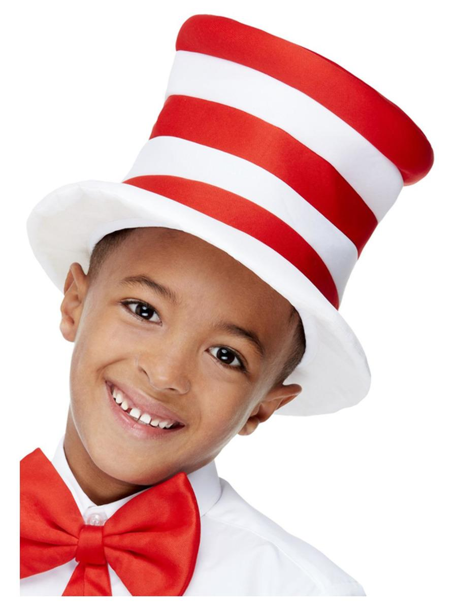 Kids Stripy Hat Red & White