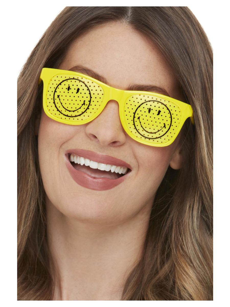 Smiley Rave Glasses Yellow