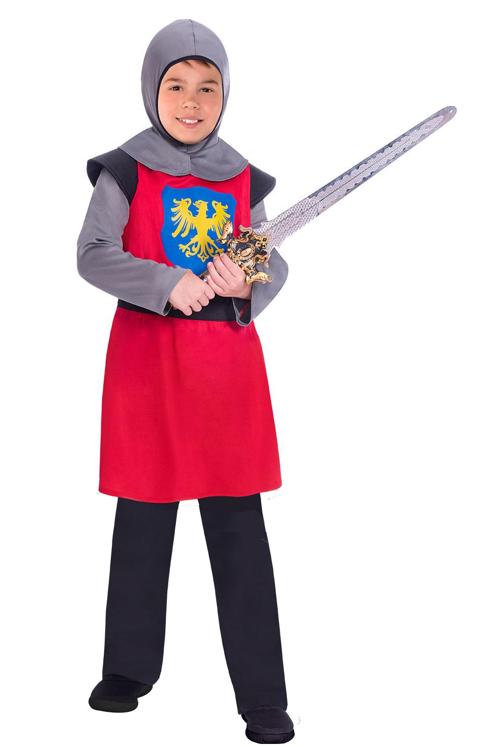Kids Medieval Knight Costume Red