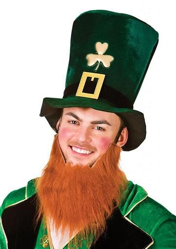 Leprechaun Hat With Beard Green