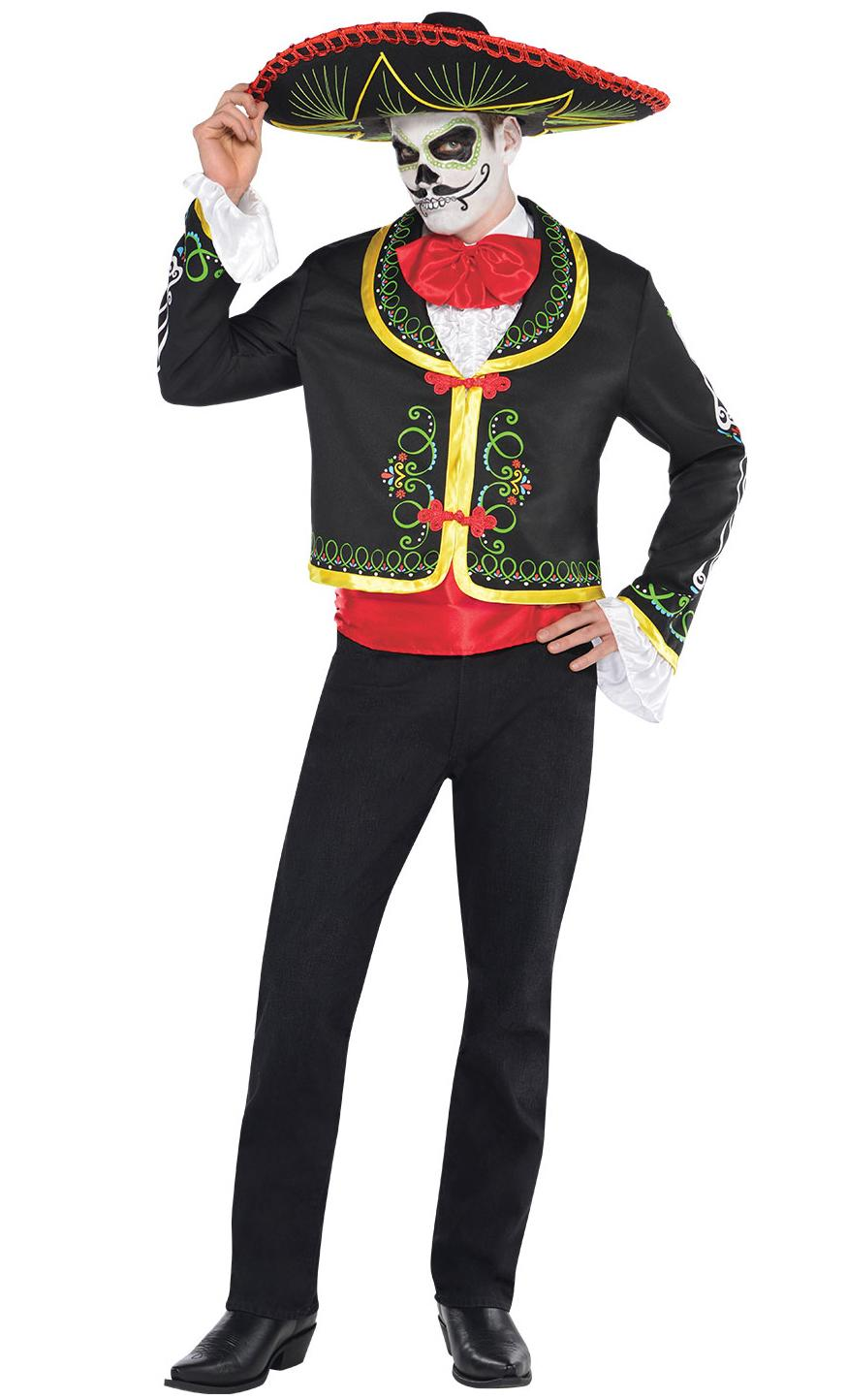 Day of the Dead Sombrero Skeleton Señor Costume