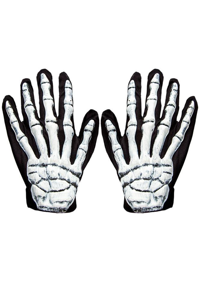 3D Skeleton Gloves Adult Size