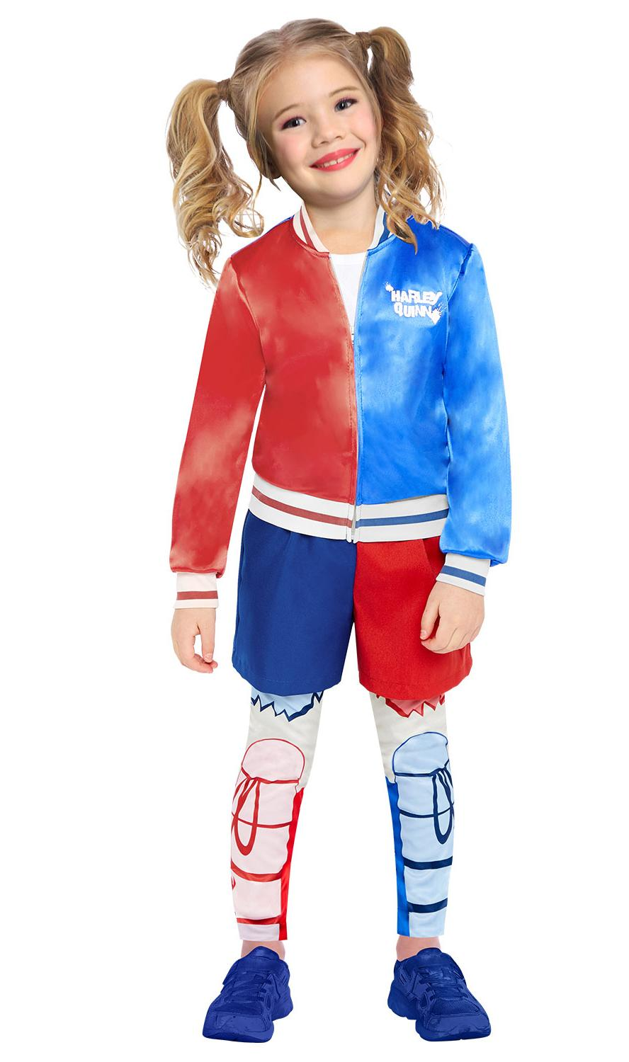 Kids Super Hero Harley Quinn Costume