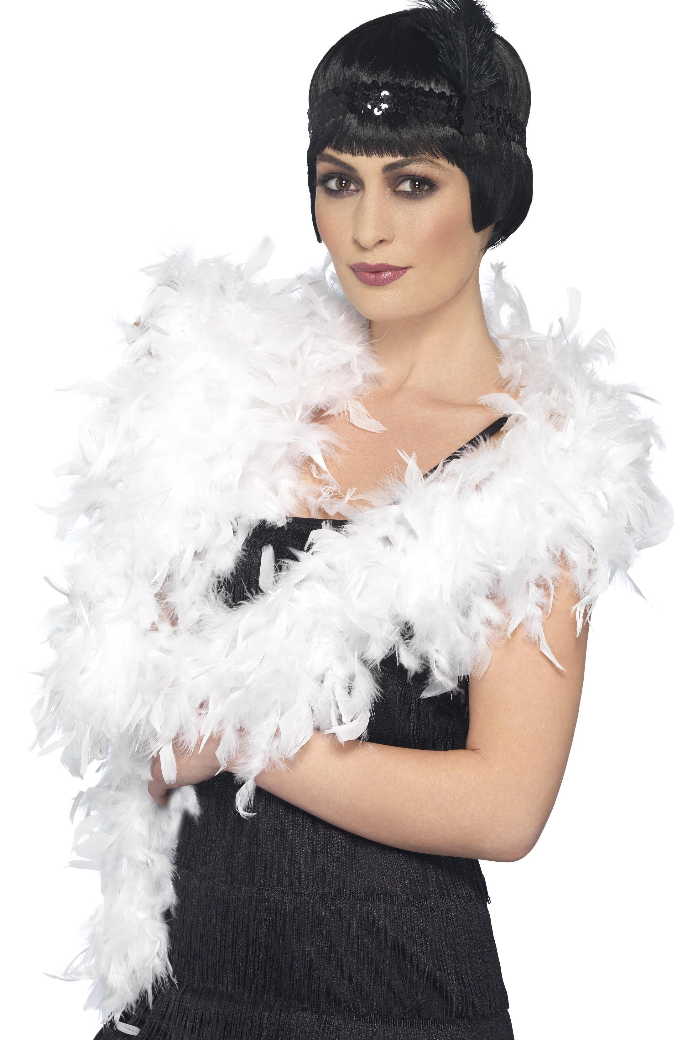 Deluxe Feather Boa White