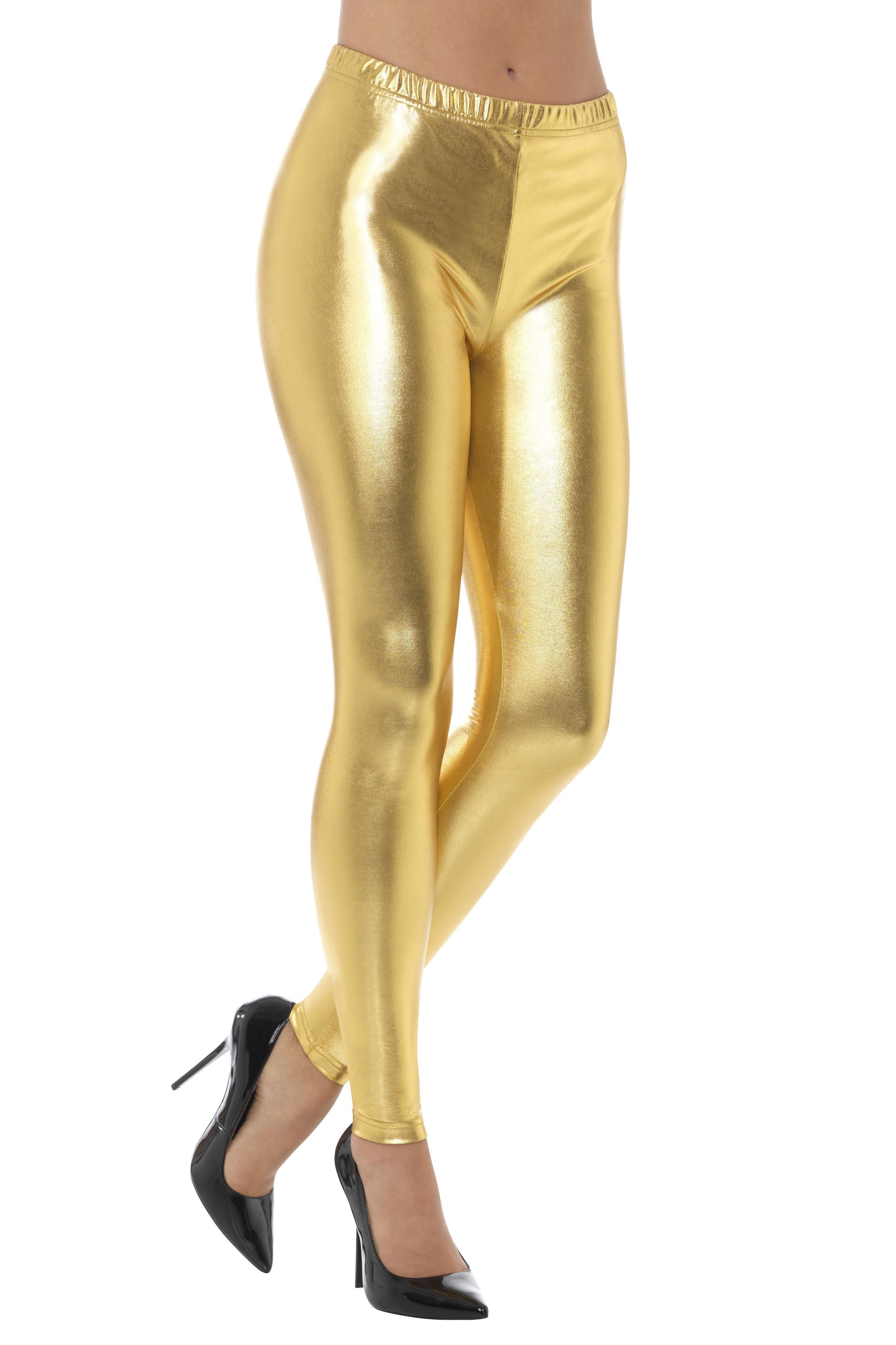 Metallic Disco Leggings Gold