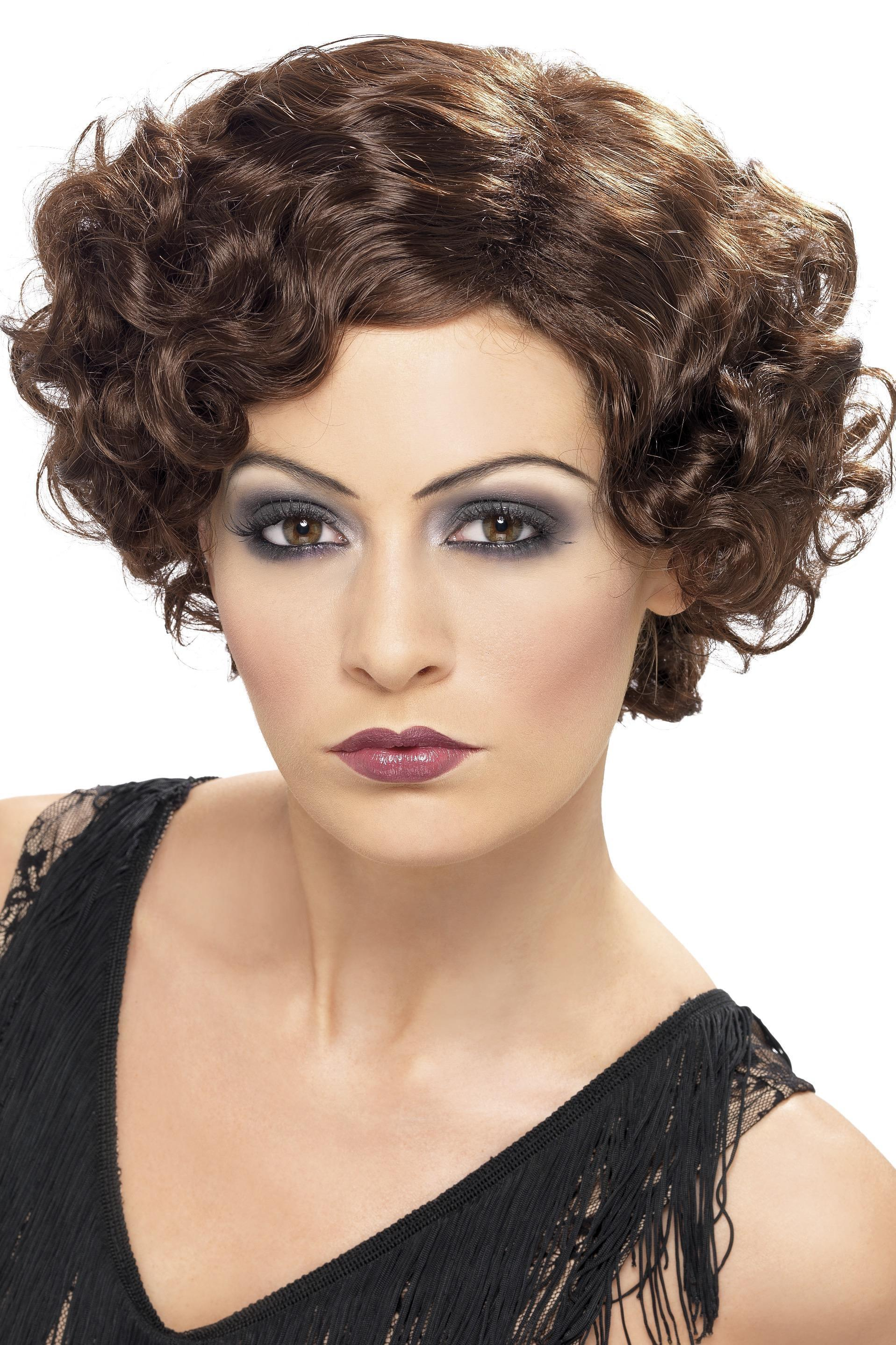 20s Flirty Flapper Wig Brown