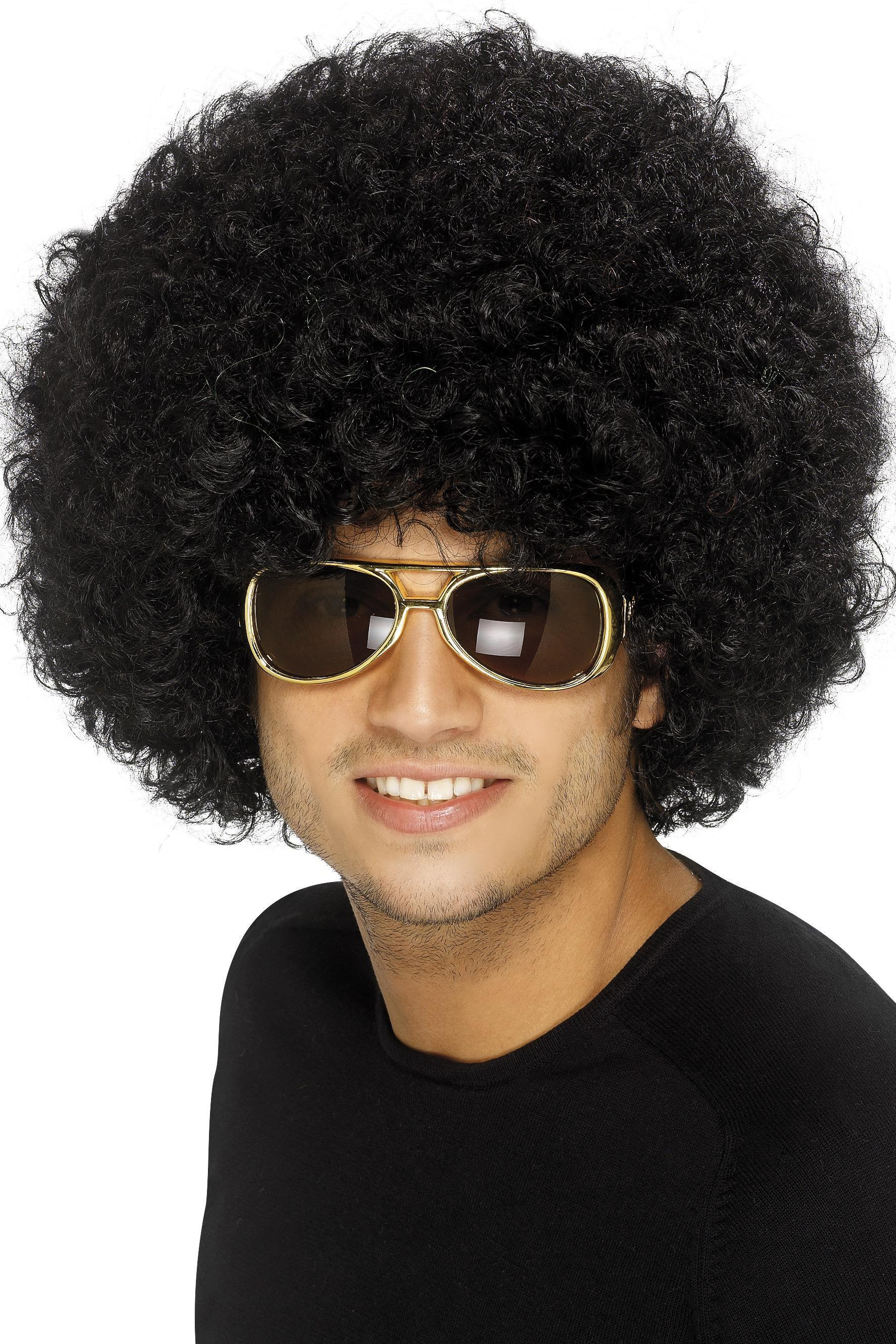 70s Funky Afro Wig Black
