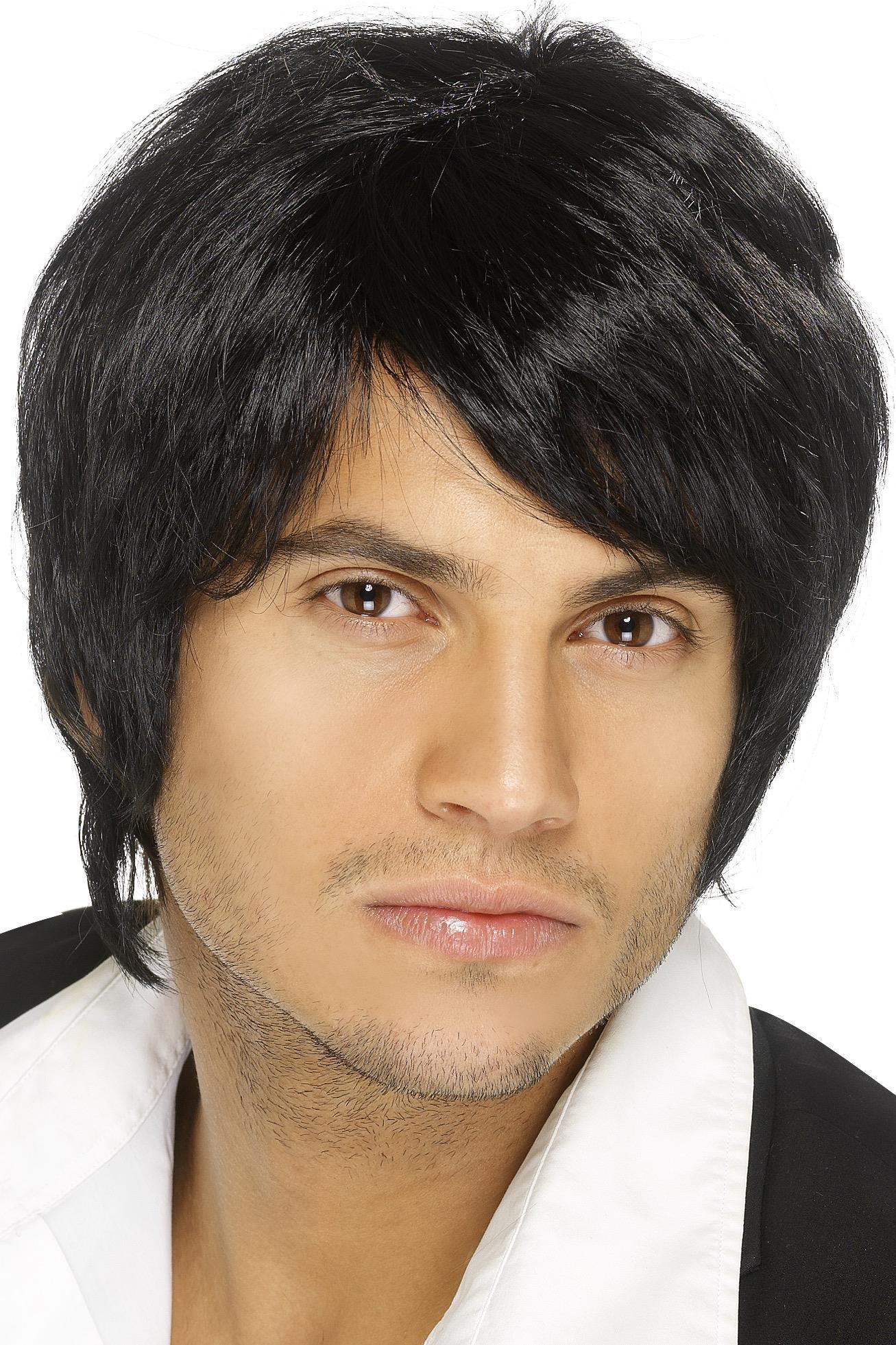 Boy Band Wig Black