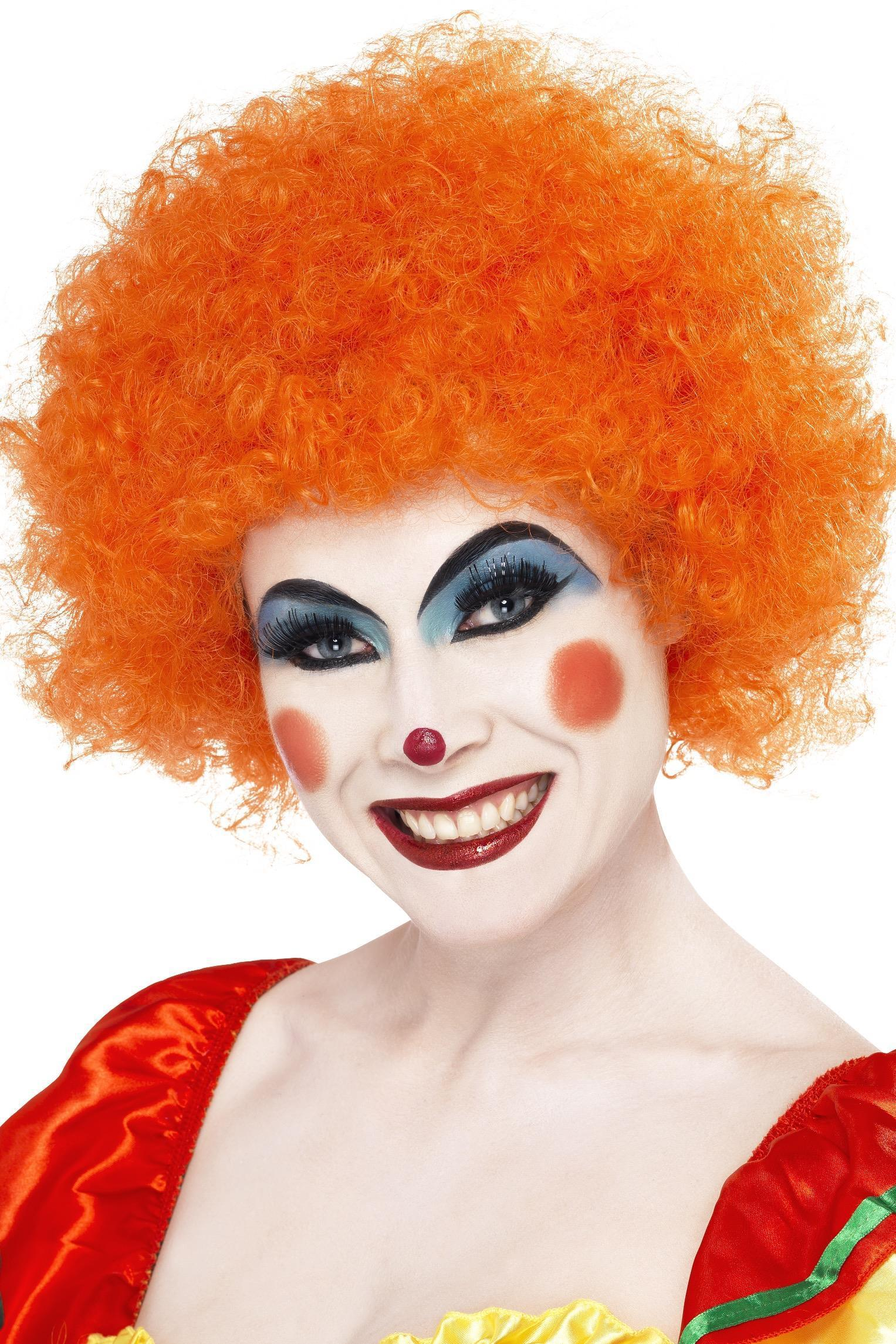 Crazy Clown Wig Orange