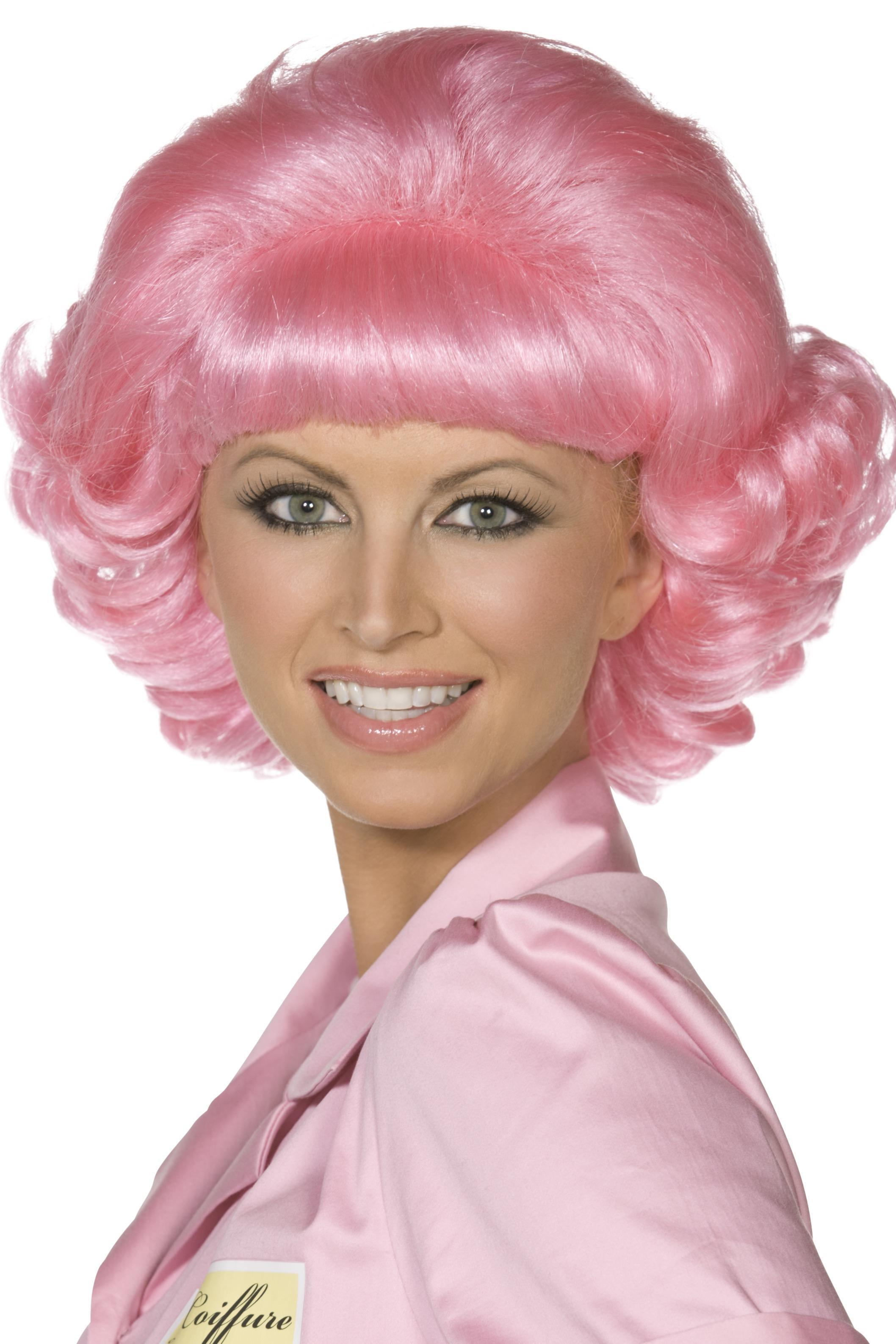 Grease Frenchy Wig Pink