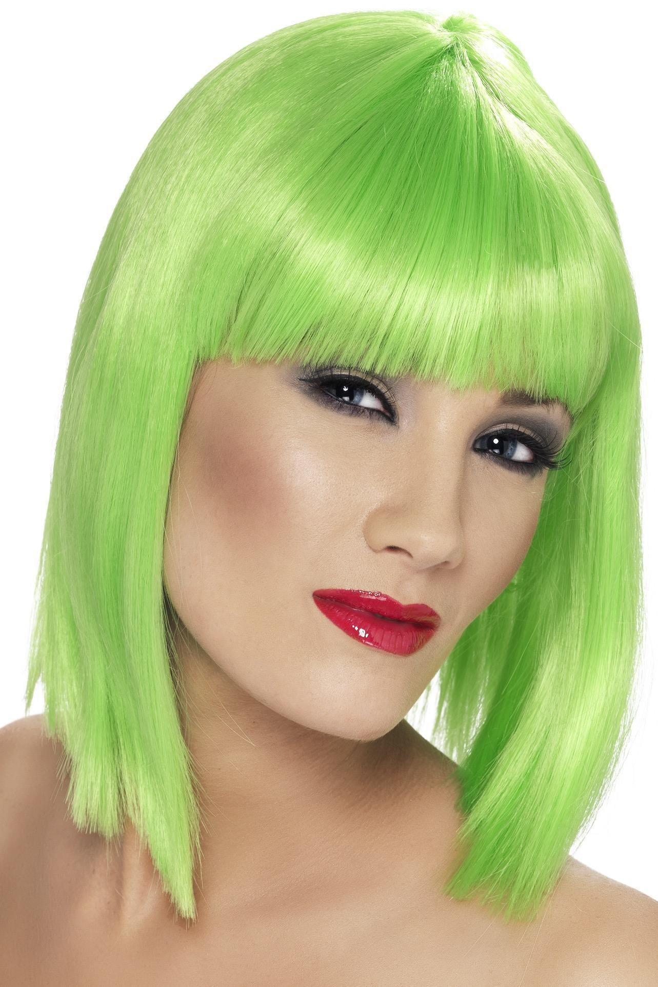 Glam Wig Neon Green