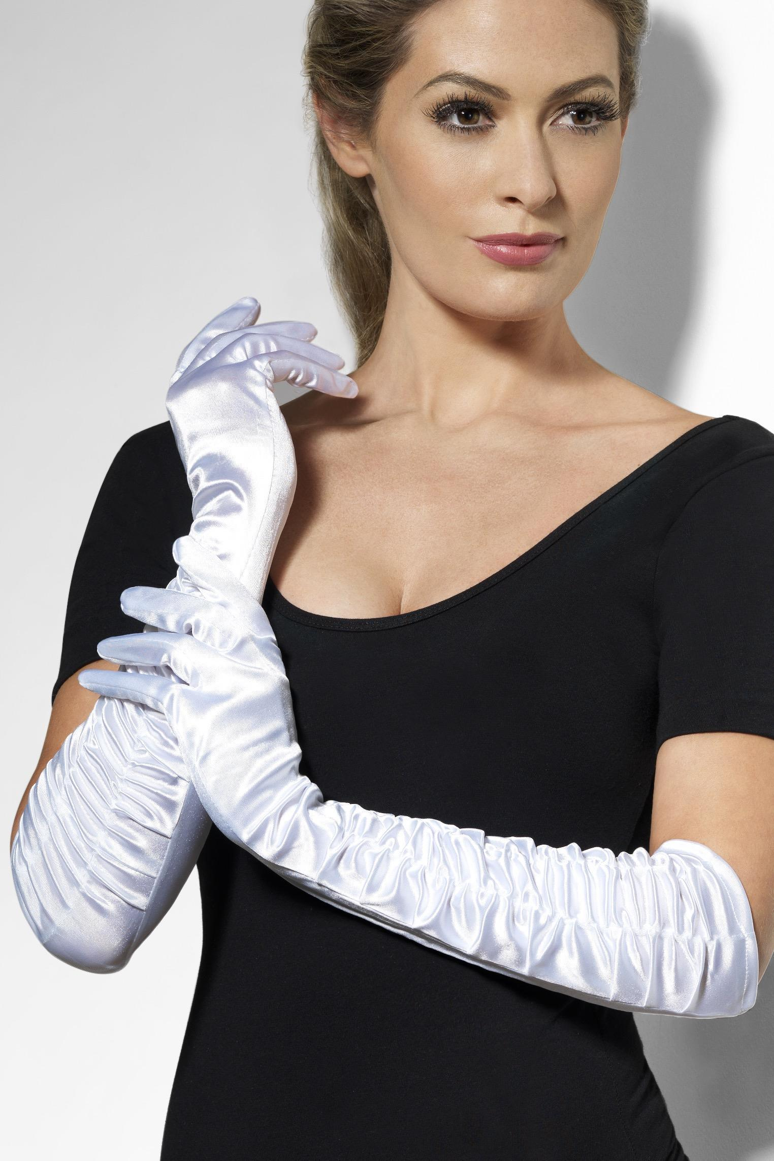 Temptress Gloves White Long