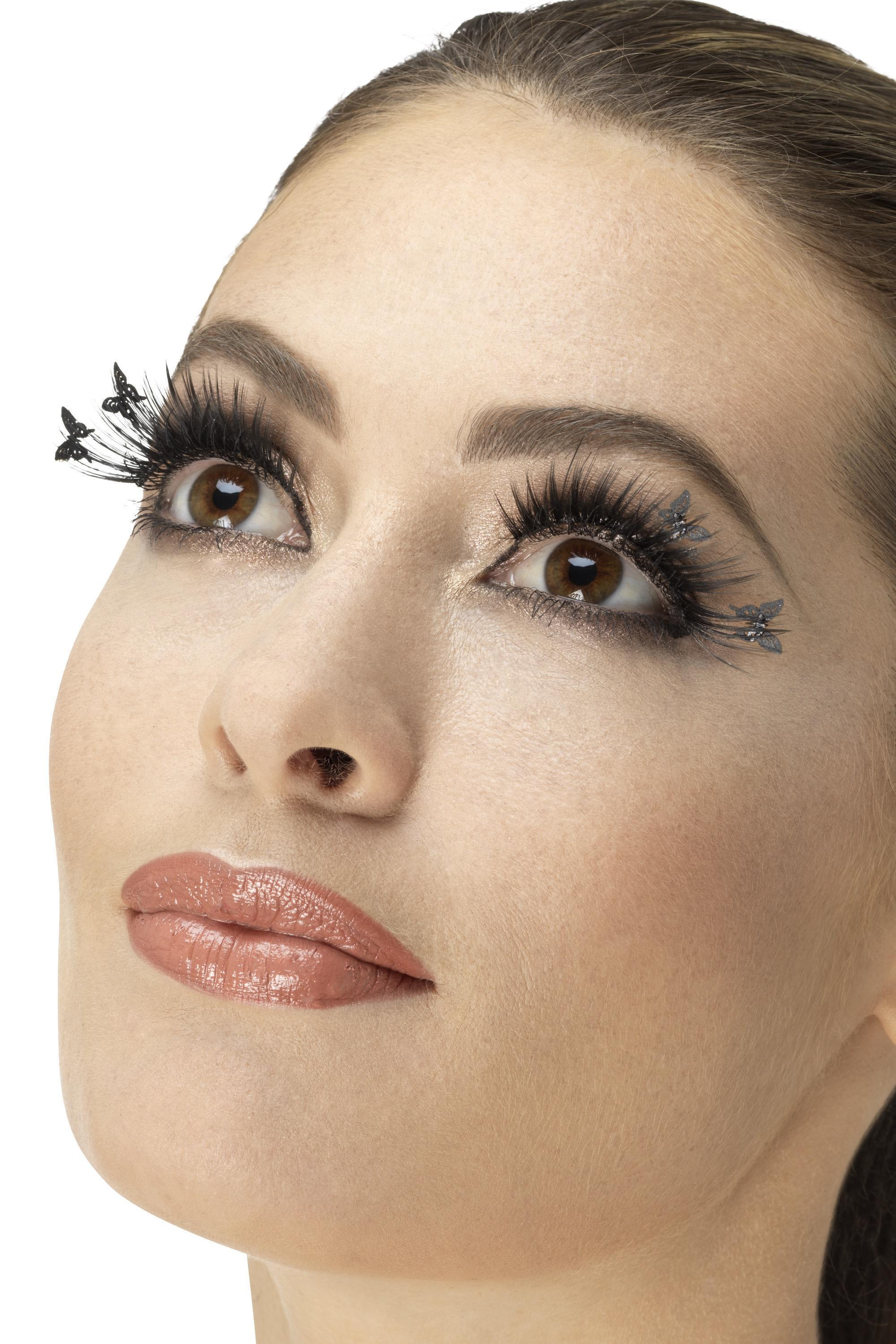 Eyelashes Winged Butterfly Black