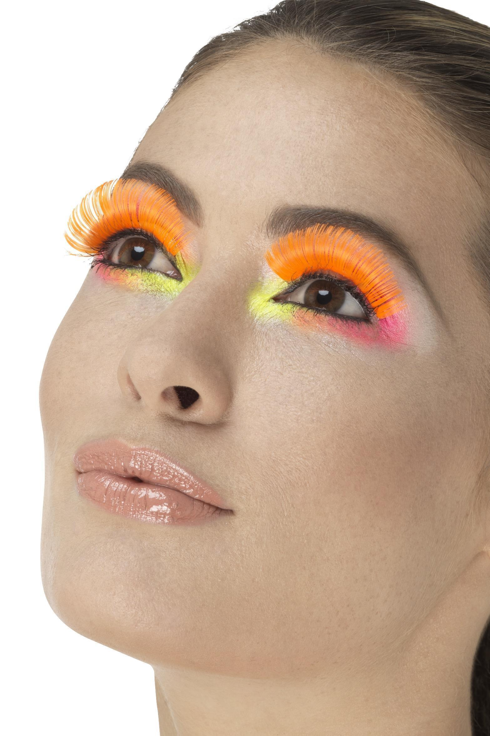 Party Eyelashes Neon Orange