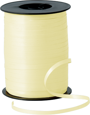 Balloon Curling Ribbon Ivory