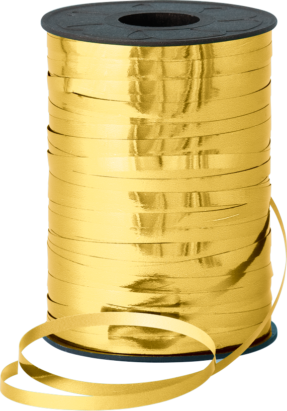 Balloon Curling Ribbon Metallic Gold