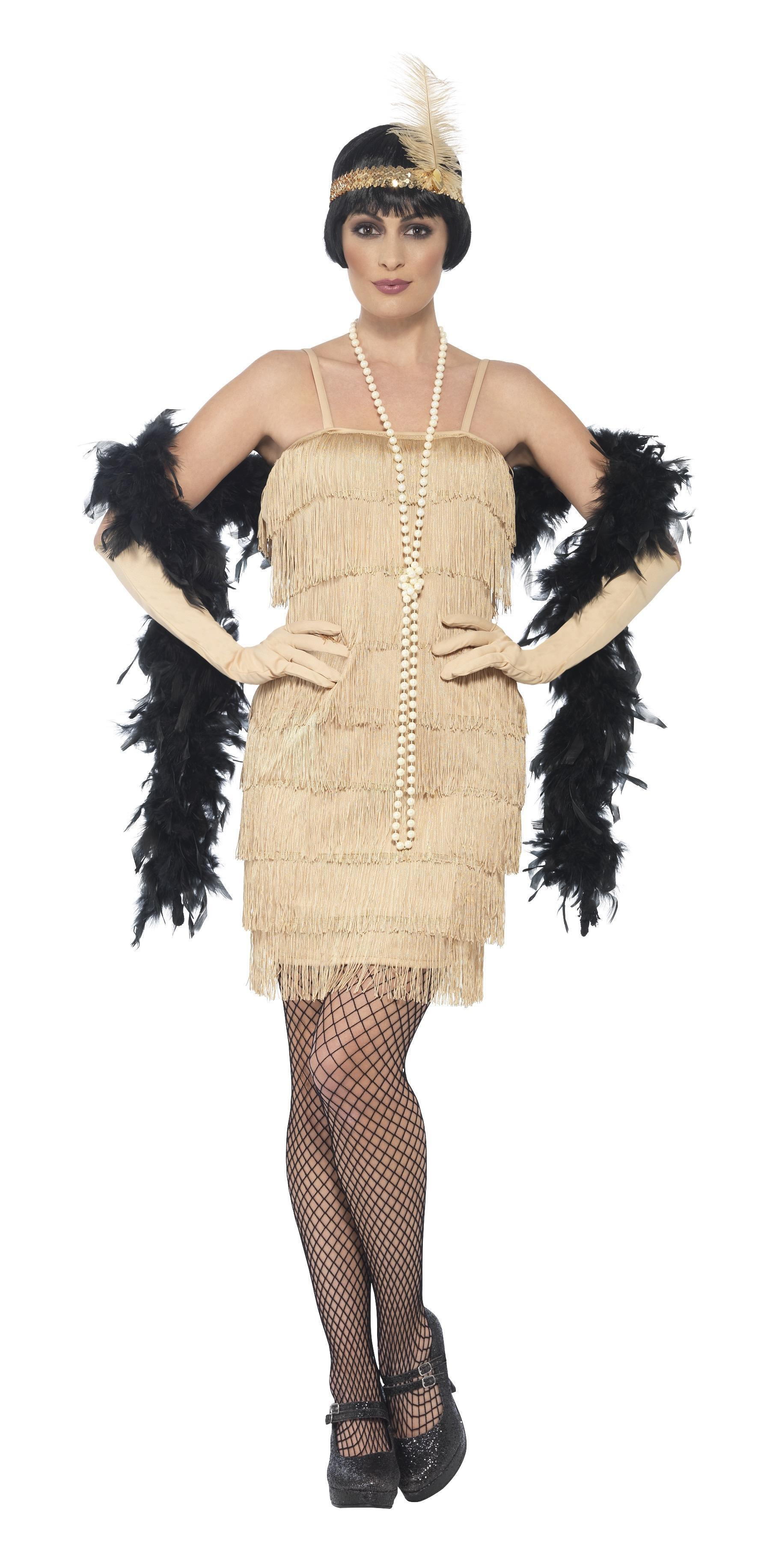 1920s Flapper Costume Gold