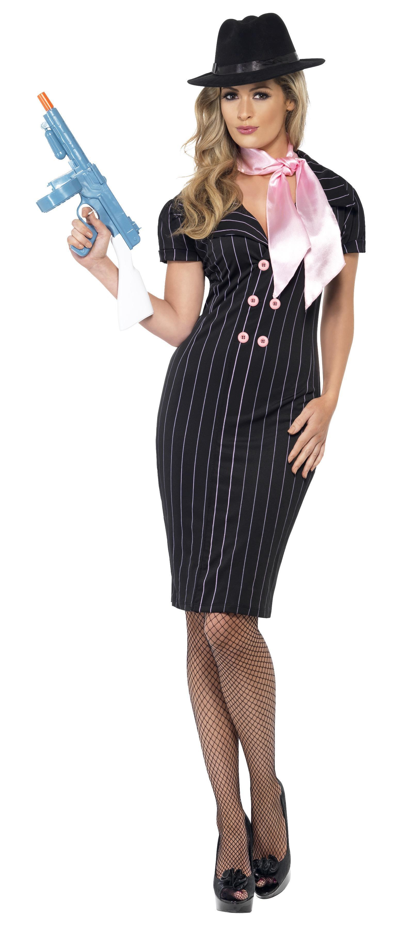 20s Gangster's Moll Costume Black