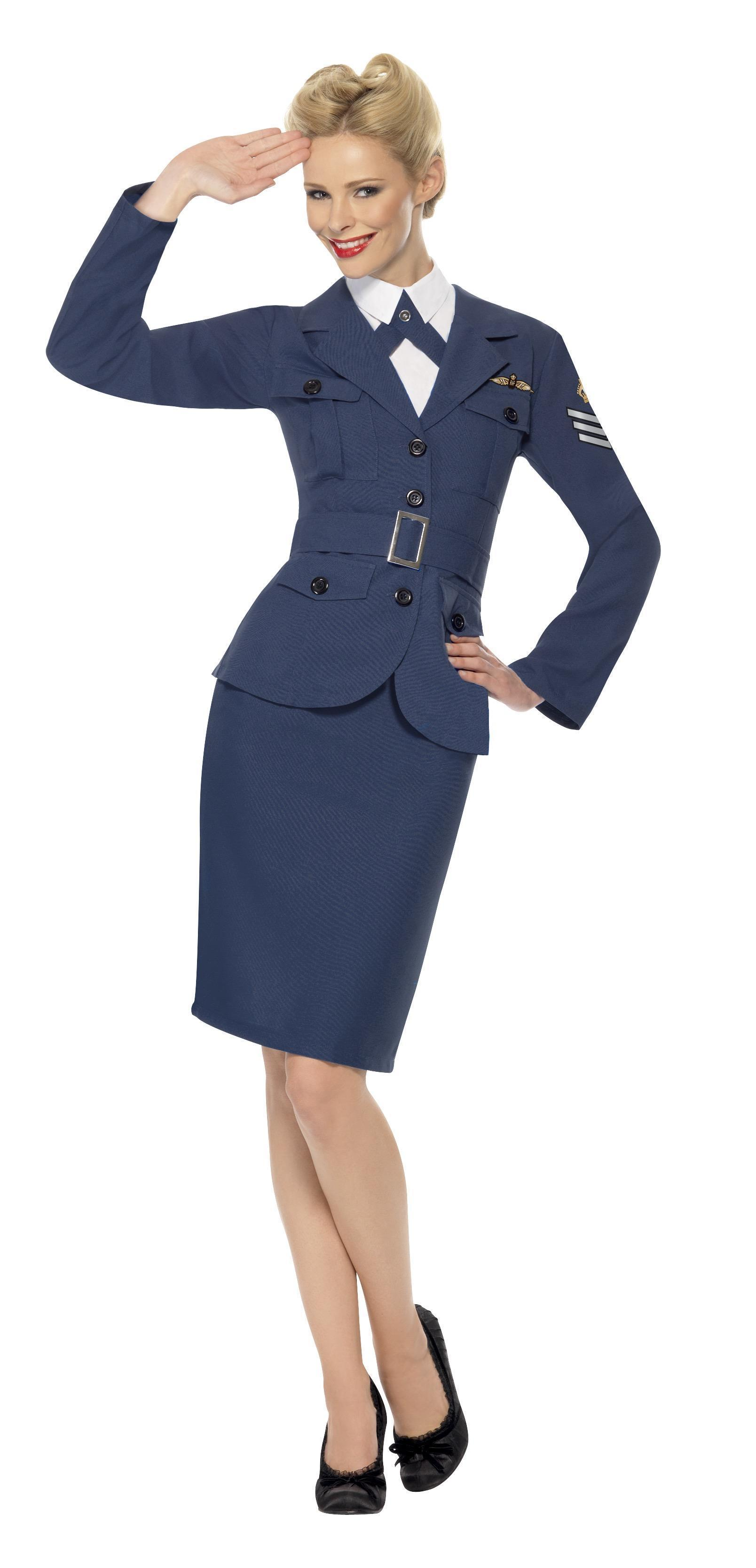WW2 Air Force Female Captain Blue