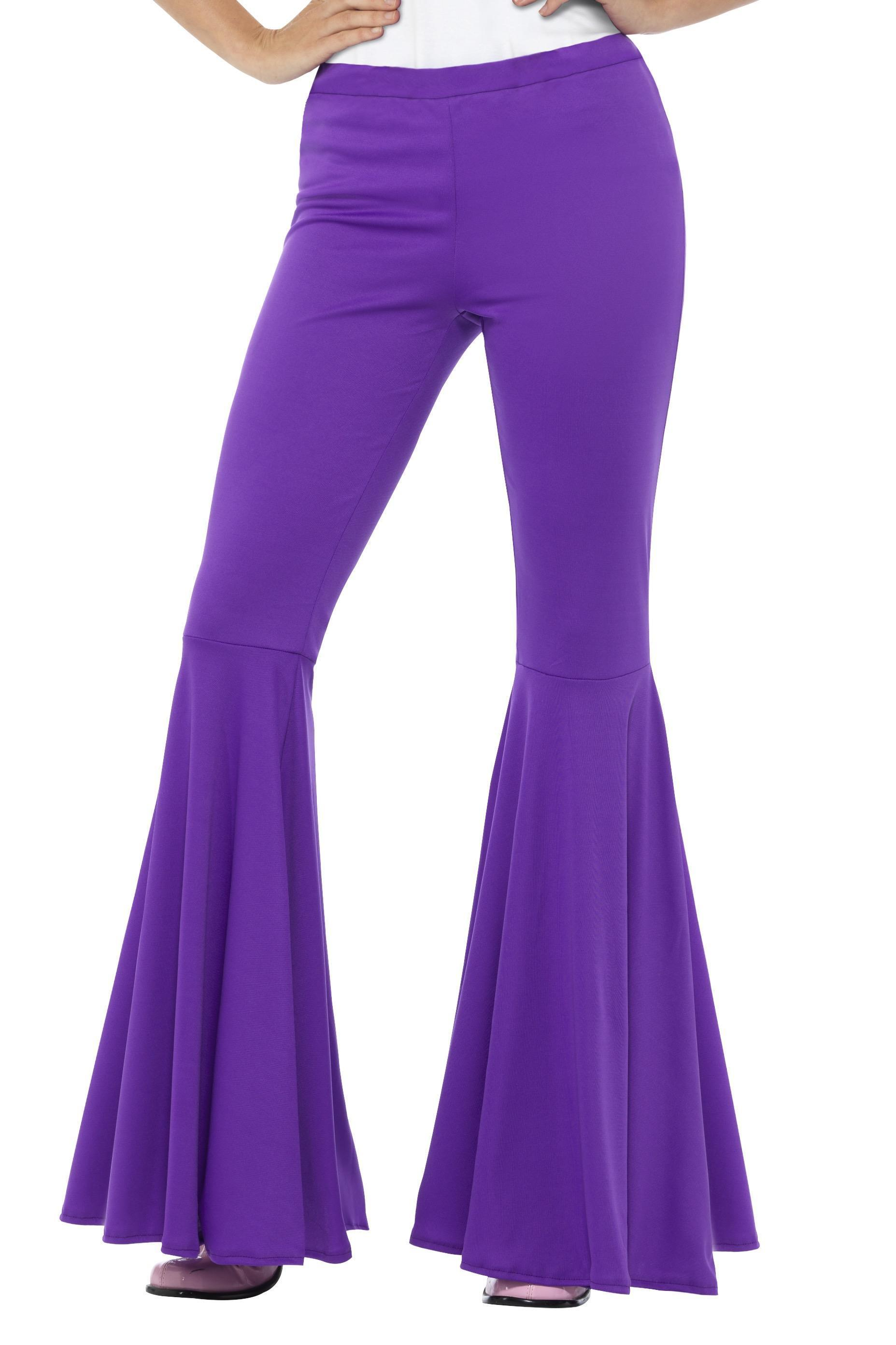 Ladies Flared Trousers Purple