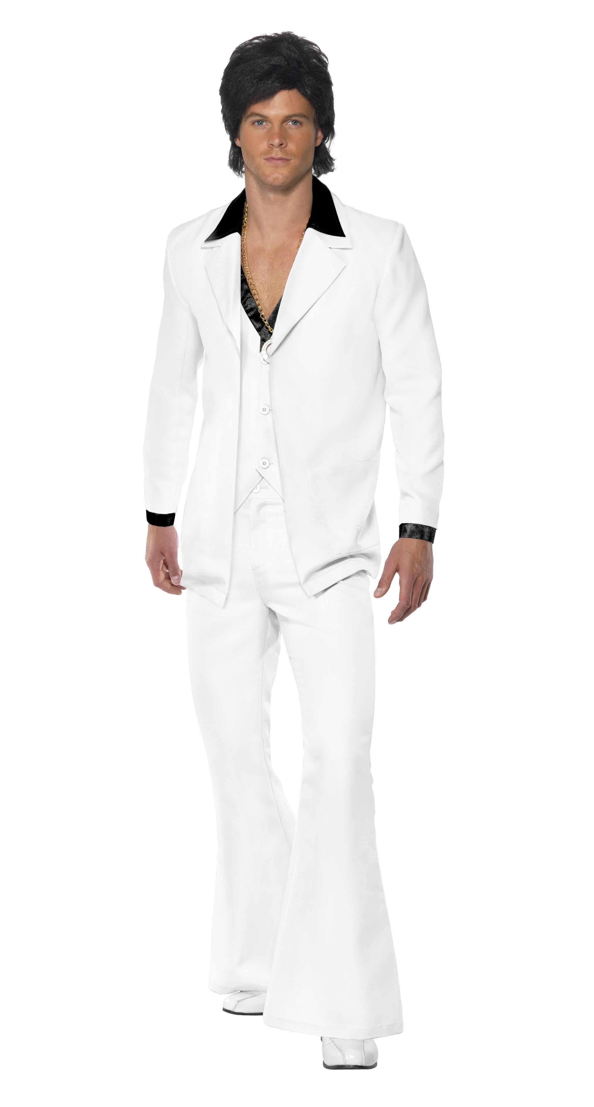 70s Disco Dancer Suit Costume White