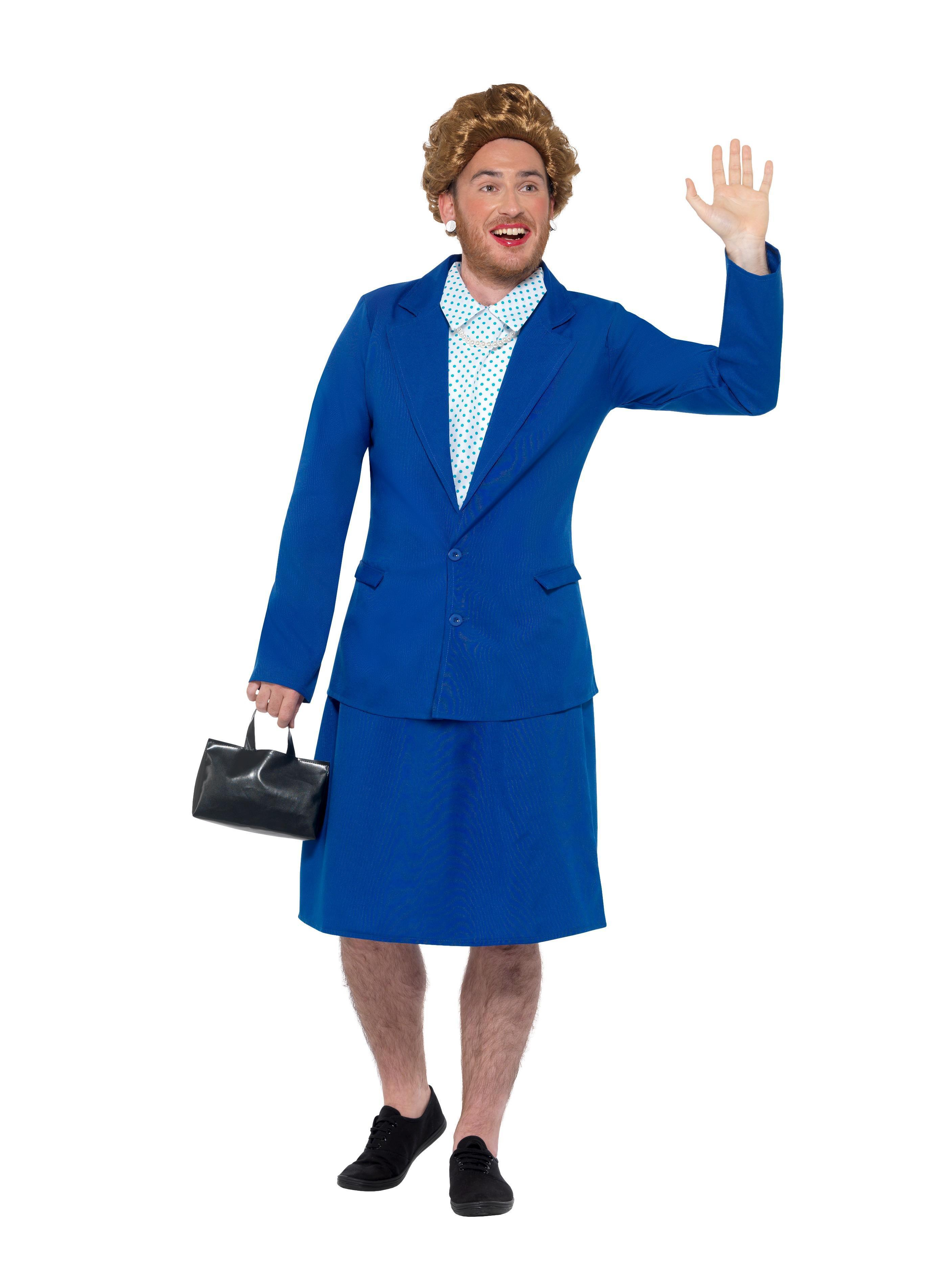 Iron Lady Prime Minister Costume Blue
