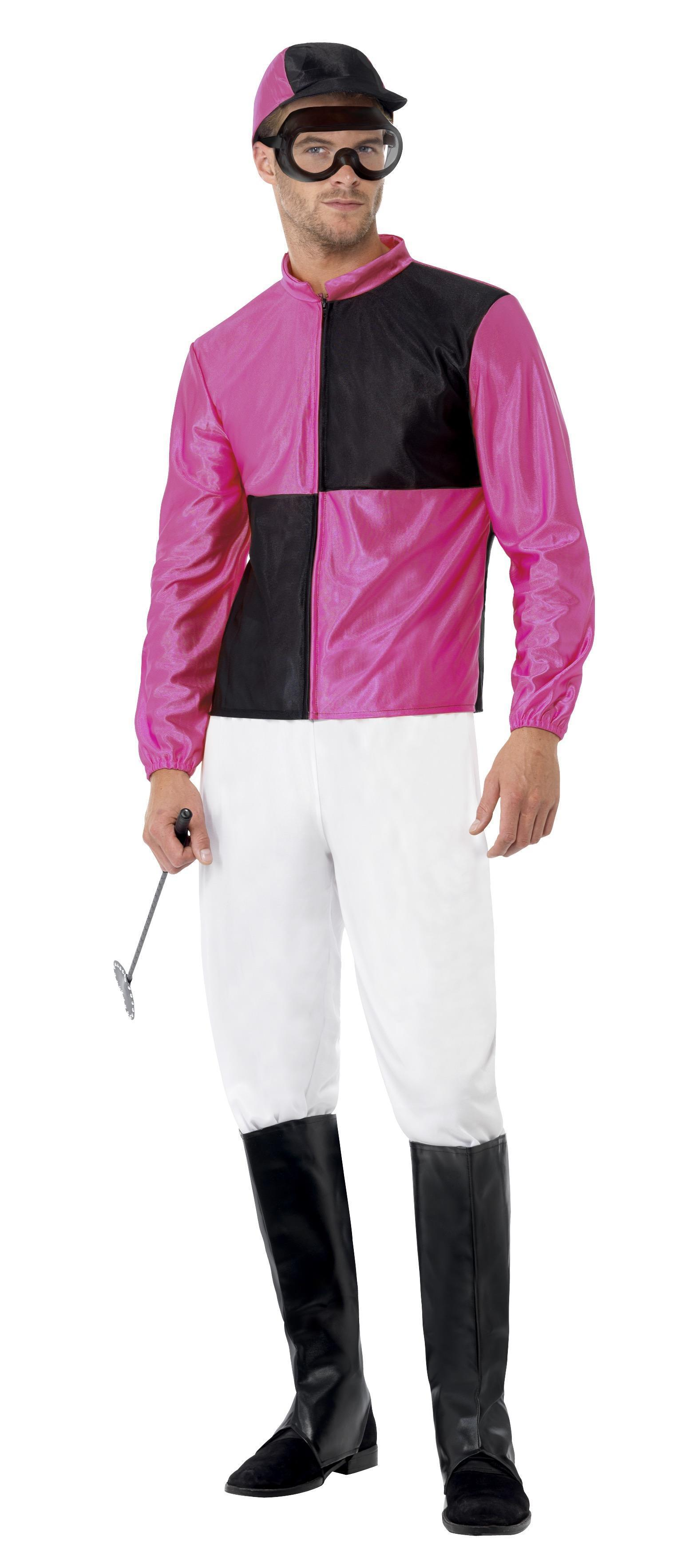 Jockey Costume Black & Pink
