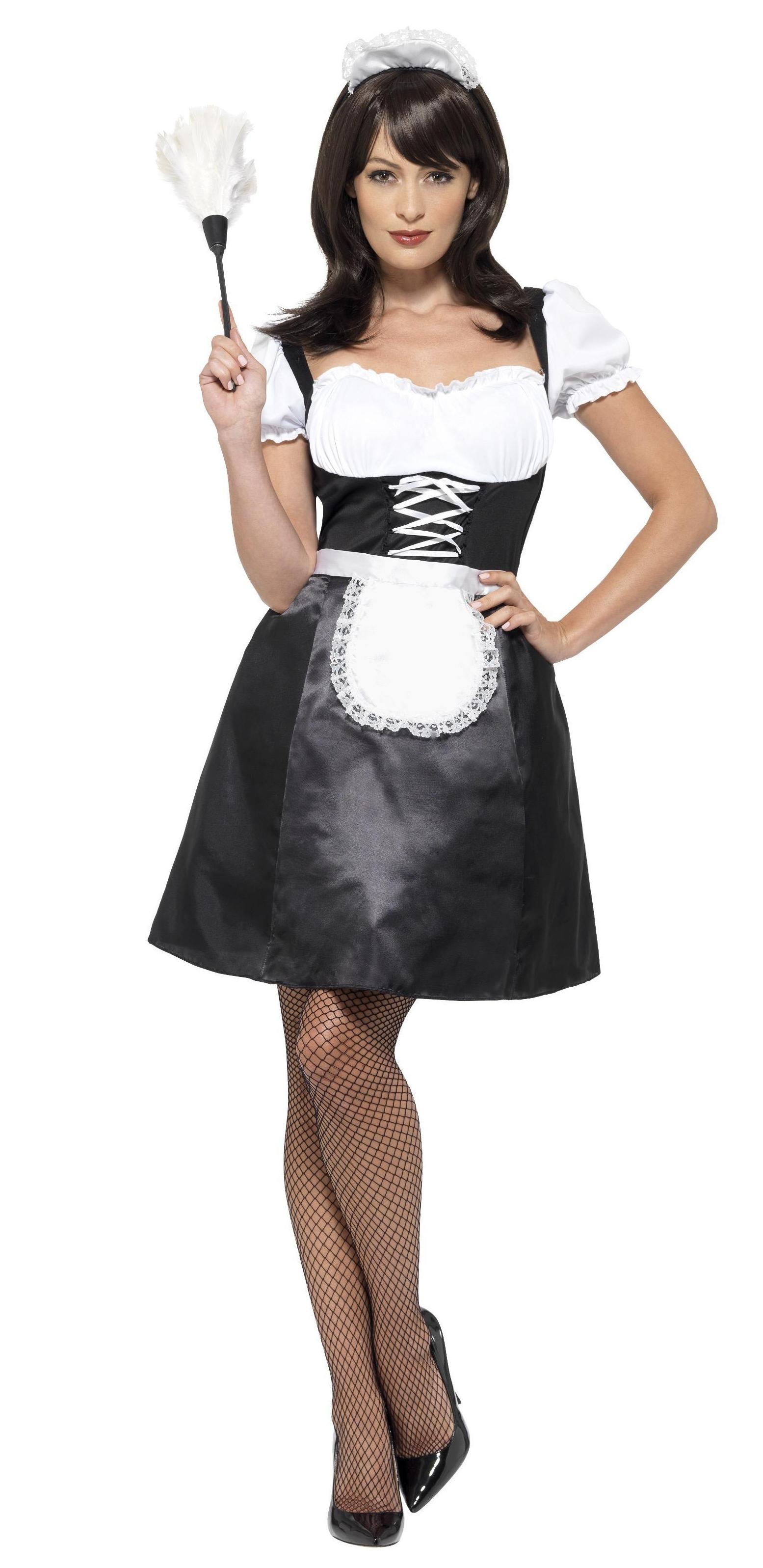 French Maid Costume Black