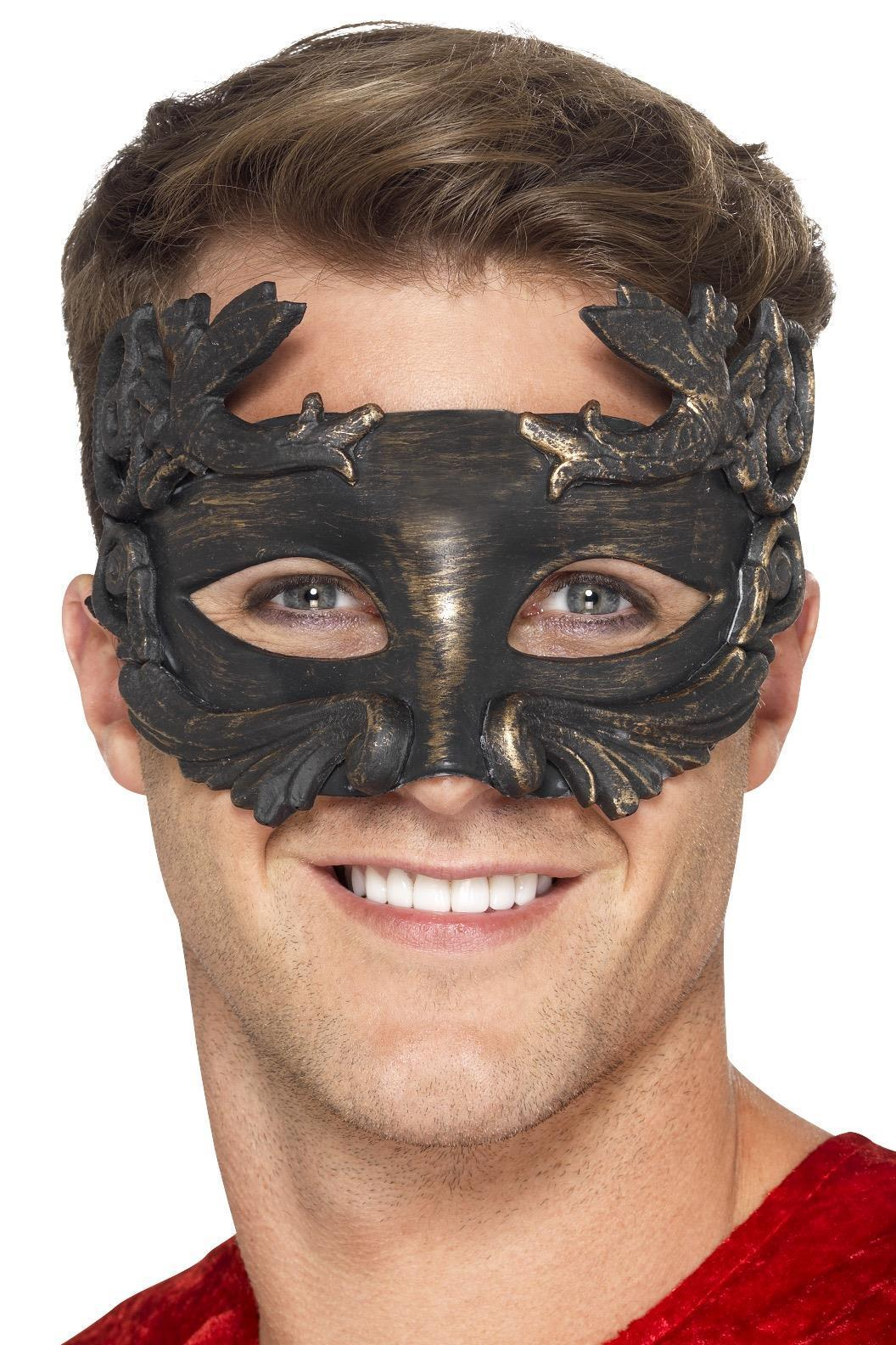 Warrior God Metallic Masquerade Eye mask Bronze