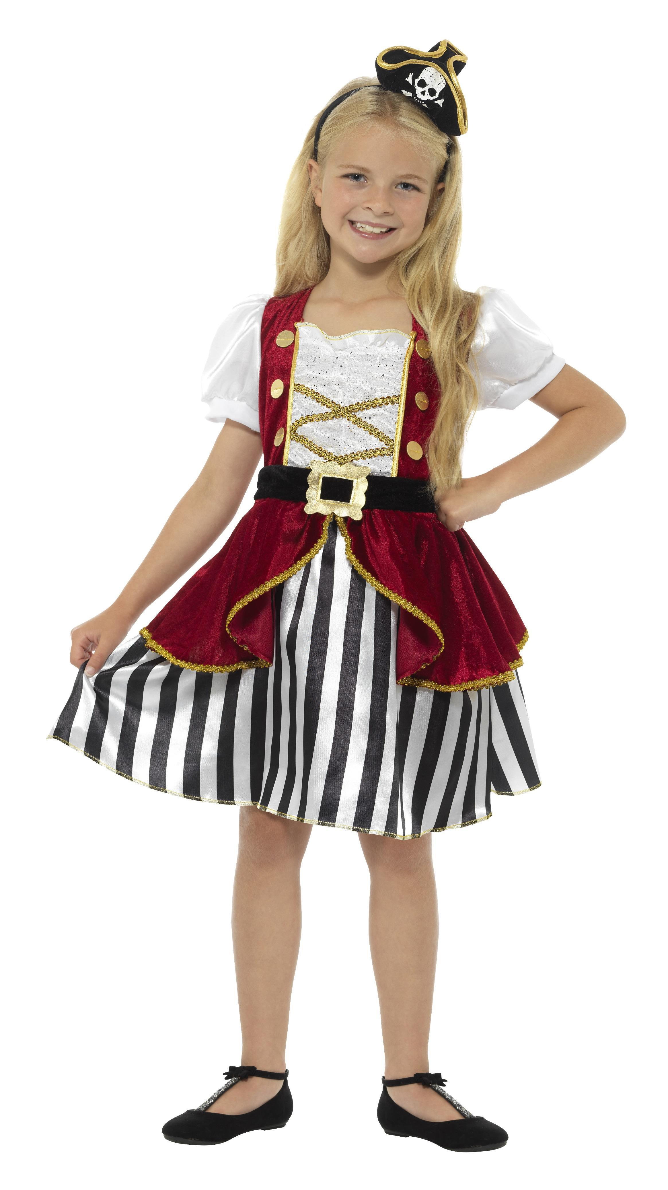 Kids Pirate Girl Costume Deluxe