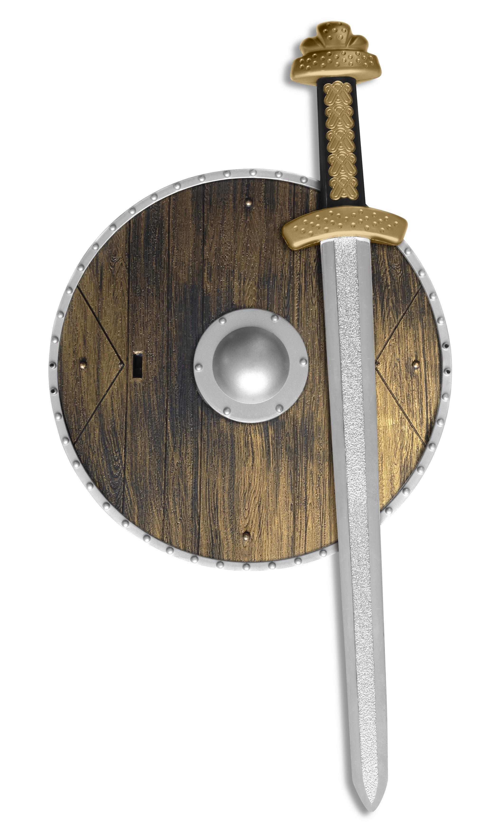 Weapons Set with Sword & Shield Brown