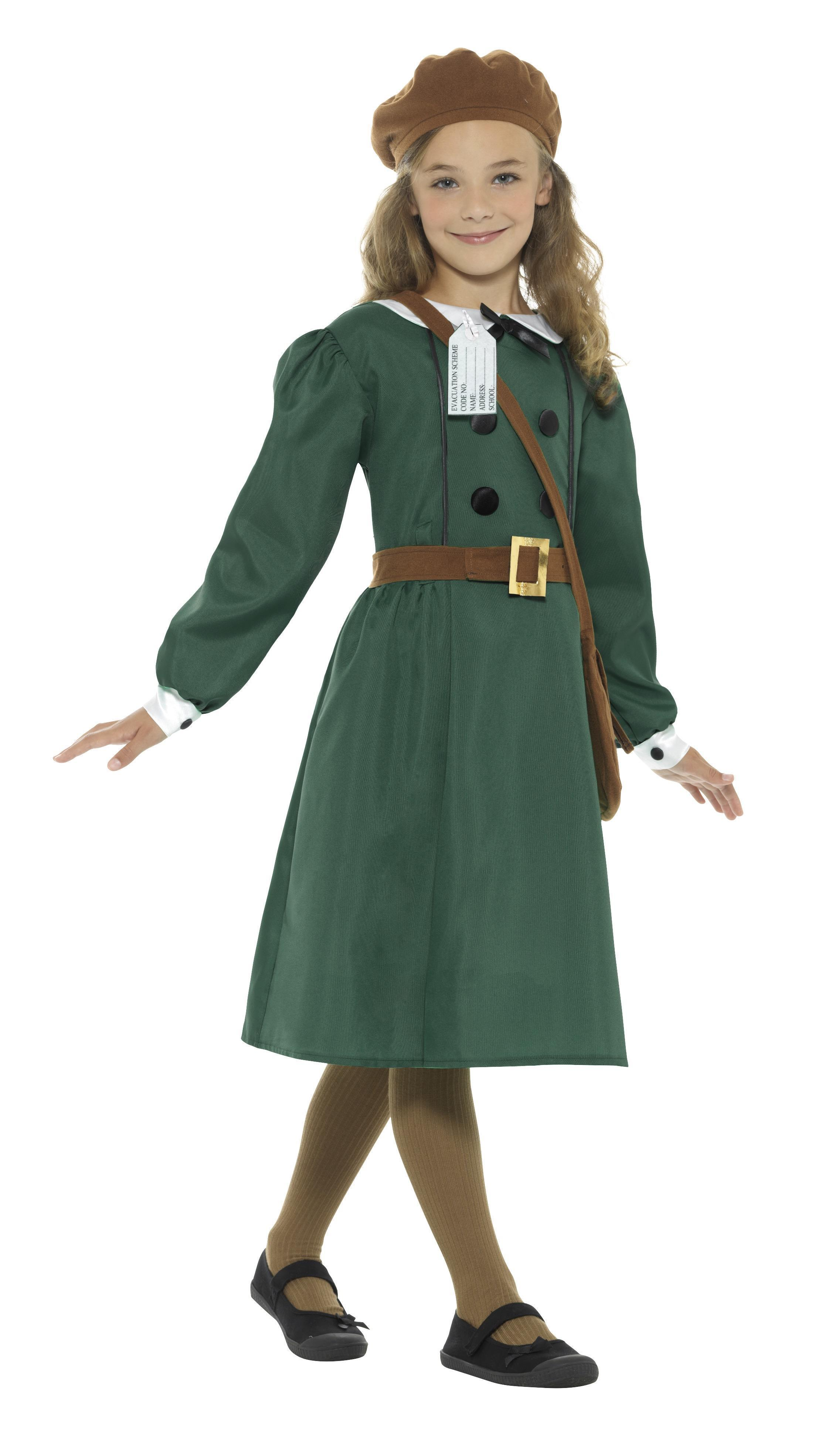 Kids WW2 Evacuee Girl Costume