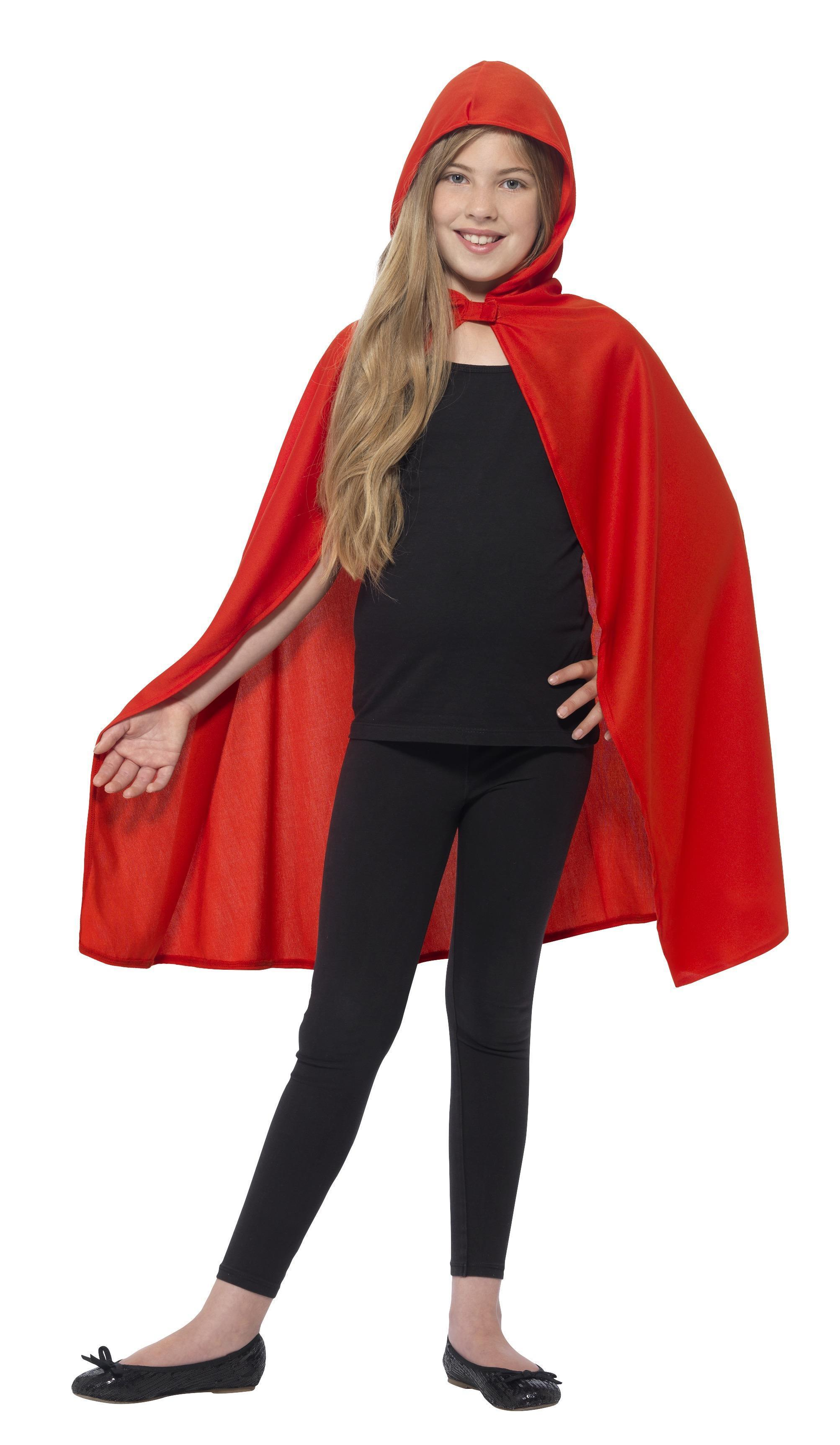 Kids Hooded Cape Red