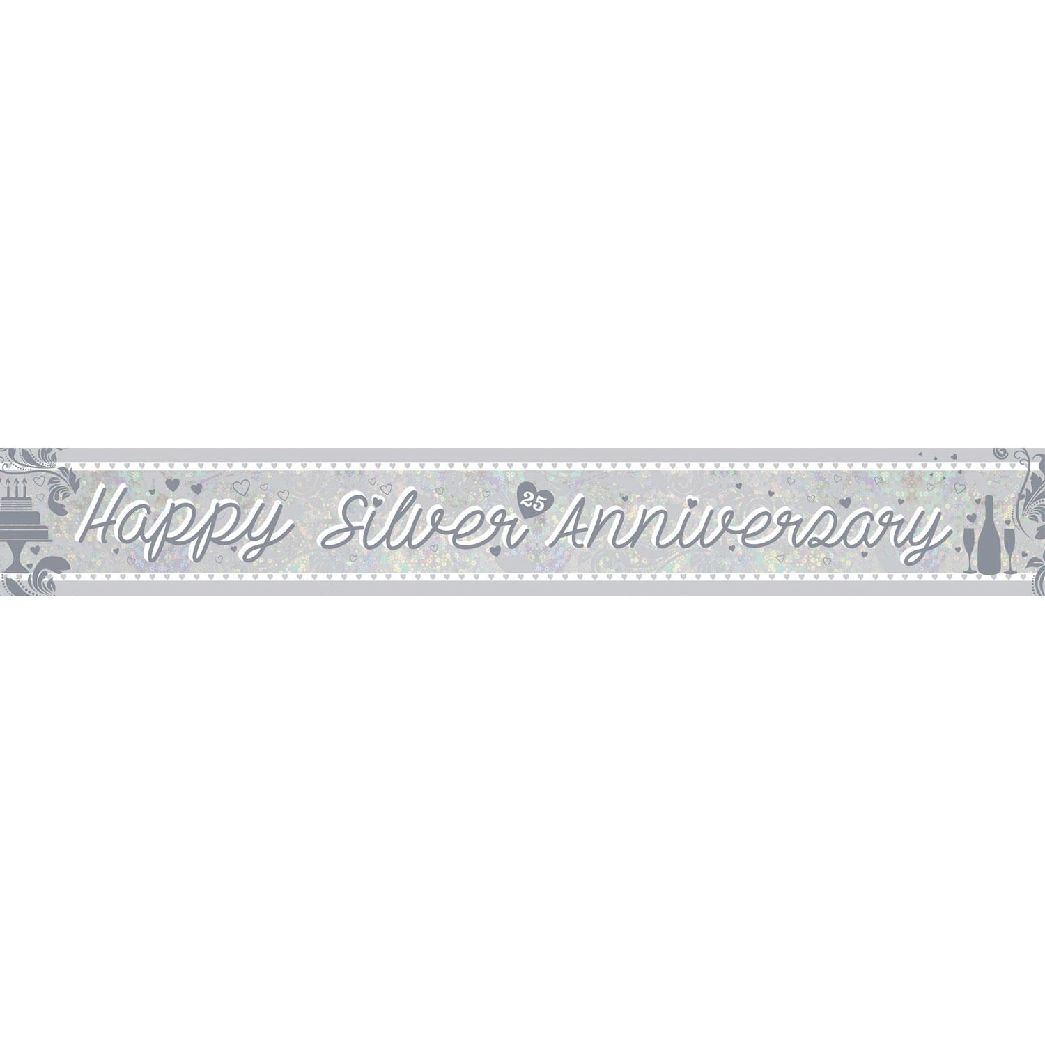 Holographic Banner Silver Anniversary